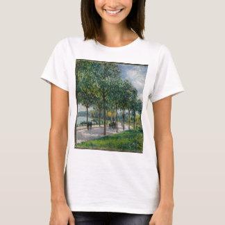 Camiseta Allée de árvores de castanha - Alfred Sisley