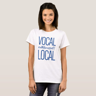 Camiseta #AllForOssoff vocal & local - AZUL