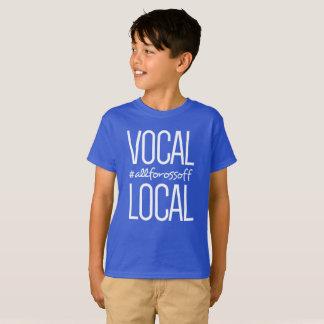 Camiseta #AllForOssoff vocal & local - AZUL do estilo dos