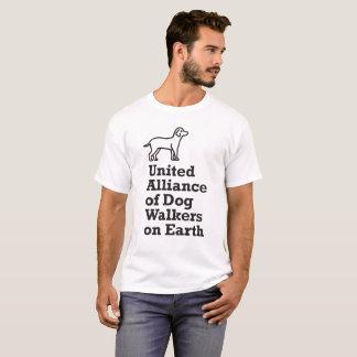 Camiseta Alliance unido engraçado de caminhantes do cão na