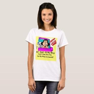 Camiseta Almoço da raiva da estrada do t-shirt de mulheres