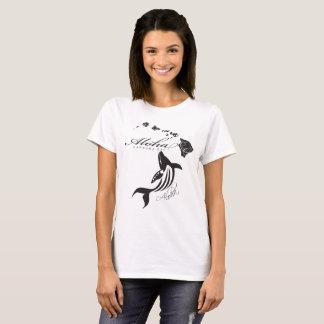 Camiseta Aloha baleia das ilhas de Havaí