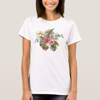 Camiseta Aloha floral tropical