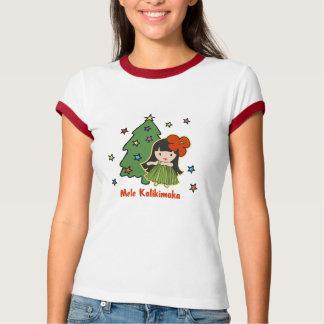 Camiseta Aloha menina de Hula havaiana do Natal dos méis