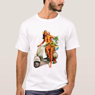 Camiseta Aloha menina do patinete