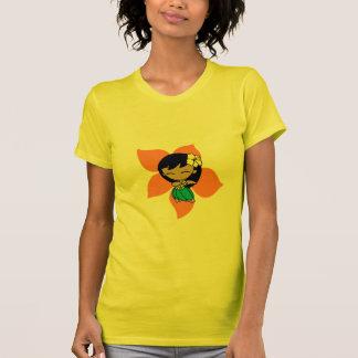 """Camiseta """"Aloha T das senhoras dos méis"""" no amarelo"""