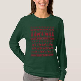 """Camiseta Alpaca vermelha """"camisola feia do Natal """""""