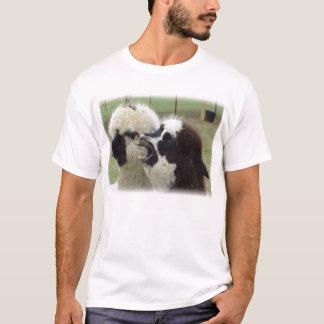 Camiseta alpacas que bocejam