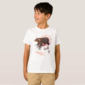 Camiseta alpargata. Espiritualidade, animais de força ursos