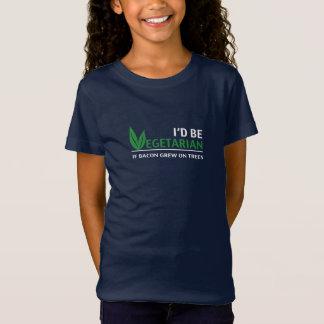 Camiseta alpargata: I'd vegetarian if bacon grew on trees.