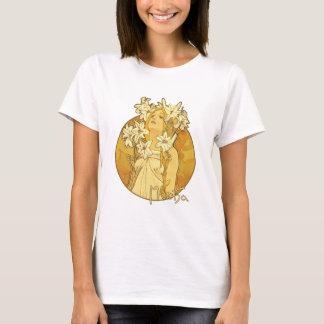 Camiseta Alphonse Mucha - as flores