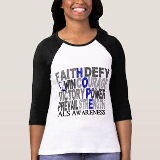 Camiseta ALS da colagem da palavra da esperança