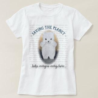 Camiseta Alterações climáticas tristes do urso polar do