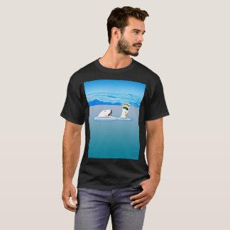 Camiseta Alterações climáticas: Urso polar que vai abaixo