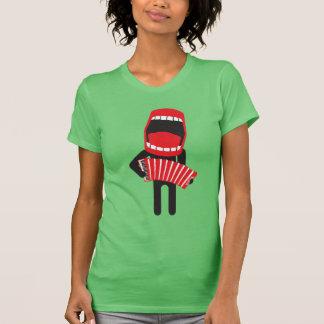 Camiseta ♫ alto do jogador do acordeão do canto