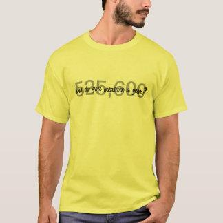 Camiseta Aluguel-Como faça você medem um ano?