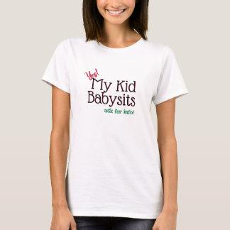 Camiseta Aluguer da baby-sitter meu miúdo