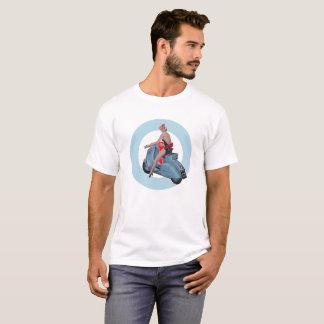 Camiseta Alvo da modificação da menina do patinete