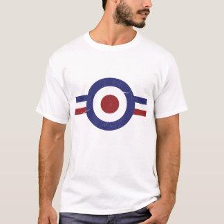Camiseta Alvo desvanecido e resistido da modificação