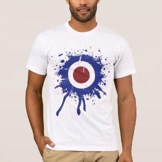Camiseta Alvo resistido retro da modificação do olhar