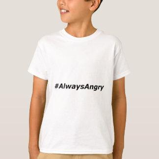 Camiseta #AlwaysAngry-logotipo-preto