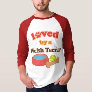 Camiseta Amado por um galês Terrier (raça do cão)