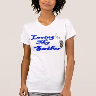 Camiseta Amando meu marinheiro, eu sou um namorada do