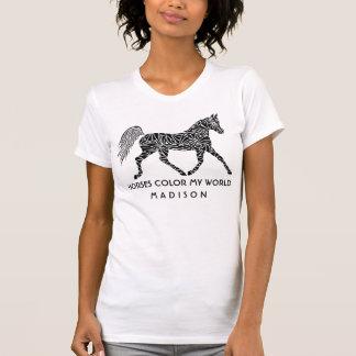Camiseta Amante conhecido opcional trotando do cavalo do