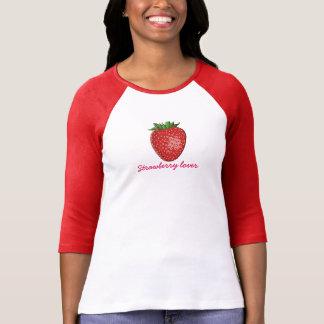 Camiseta Amante da morango - t-shirt da forma