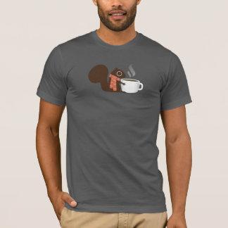 Camiseta Amante do café do esquilo com lenço listrado