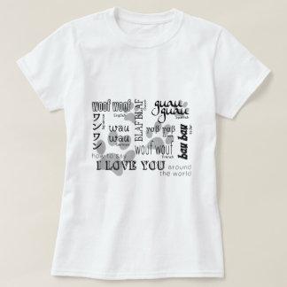 Camiseta Amante do cão - como dizer eu te amo