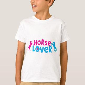 Camiseta Amante do cavalo com os dois cavalos de elevação