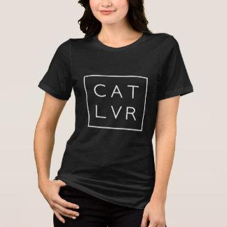 Camiseta Amante do gato tipográfico