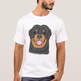 Camiseta Amante Rottweiler feliz do cão do t-shirt de