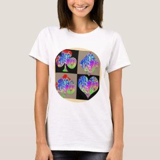 Camiseta Amantes ajustados dos grafites do póquer redondos