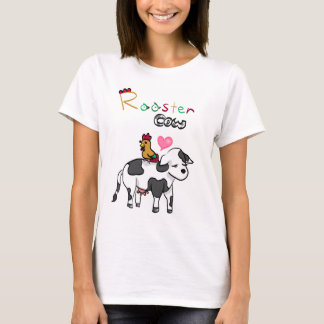 Camiseta Amantes chineses RoosterxOx do zodíaco