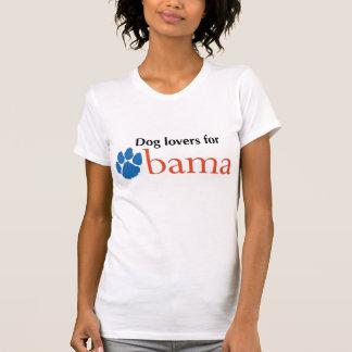 Camiseta Amantes do cão para Obama