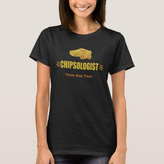 Camiseta Amantes engraçados da microplaqueta de batata de