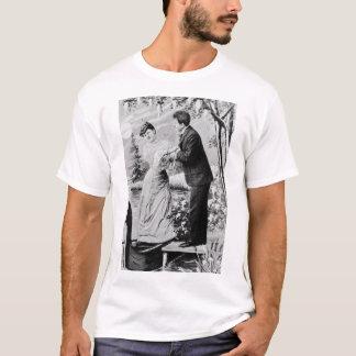 Camiseta Amantes românticos do vintage em um barco