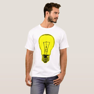 Camiseta Amarelo 11,17 da lâmpada