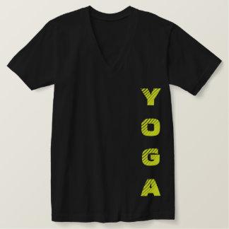 Camiseta Amarelo da ioga e preto de néon