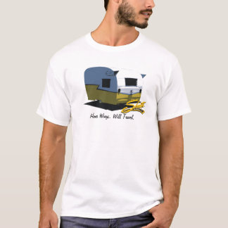 Camiseta Amarelo do reboque do viagem do campista de Shasta