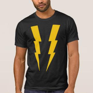 Camiseta Amarelo no T preto do super-herói do relâmpago