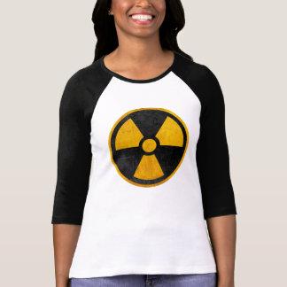 Camiseta Amarelo radioativo e preto do reator nuclear