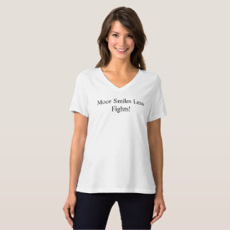 Camiseta Amarre/mais sorriso menos lutas F9