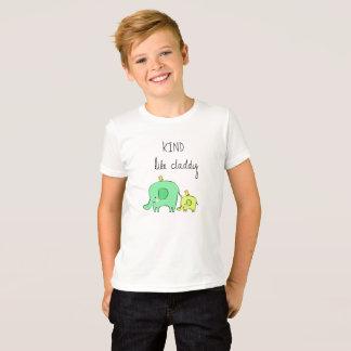 Camiseta Amável. Como o pai