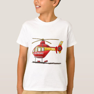 Camiseta Ambulância médica do helicóptero do salvamento do