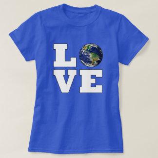 Camiseta Ame a protecção ambiental da terra do planeta