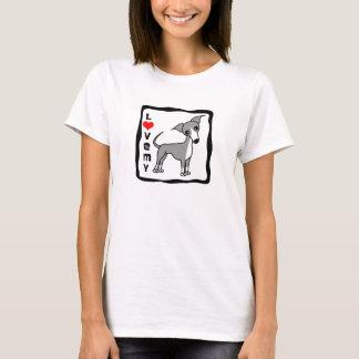 Camiseta Ame meu galgo italiano - cinza