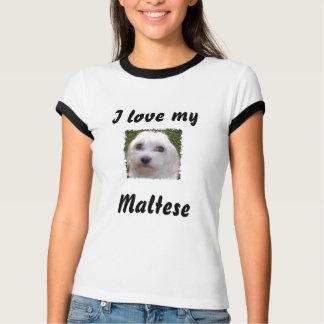 Camiseta Ame meu maltês